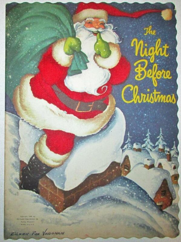 CR 1949 THE NIGHT BEFORE CHRISTMAS Eileen Fox Vaughan Whitman Pub Oversized Book