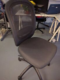 Black office chairs - IKEA boxed and brand new x 3 plus 11 more chairs used but good condition