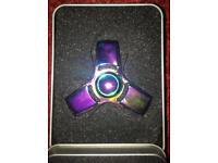 Fidget spinner premium quality high grade metal zinc rainbow