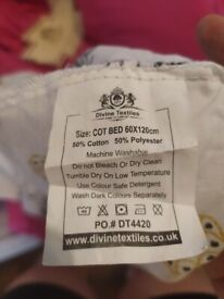 BABY COT SHEETS- NEW NEVER USED