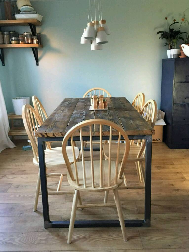 Reclaimed Scaffold Dining Table