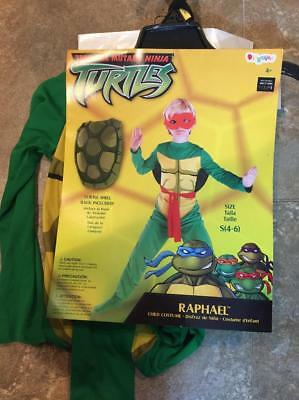 TMNT Teenage Mutant Ninja Turtles RAPHAEL Costume ~ Child S (4-6) M (7-8)  ~ NEW - Tmnt Costume Kids