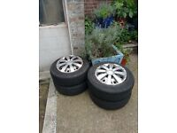 4x Tyres and wheel covers