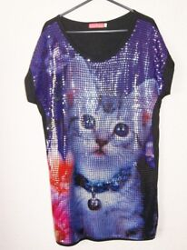 Butler & Wilson Sequinned Cat Tunic Small
