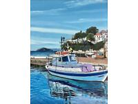 Skiathos water taxi A3 Giclee limited edition print