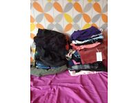Black bin of clothes, size 12, around 31 pieces/16 pens each