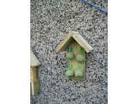 Bird Feeding Station, Bird Feeder, Wooden, wall or post mounting.