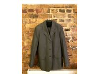 Agnès B. Homme Men's Green/Grey Suit - size 50 Jacket, 32W/31L - Made in France