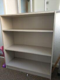 Grey deep bookcase