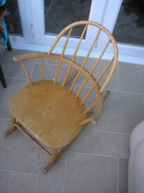 Low backed Wooden Rocking Chair