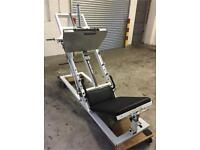 Commercial gym equipment plate loaded leg press