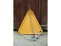 Heavy duty wheel clamp for sale.