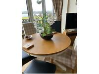 Solid Wood dining table & 6 chaira