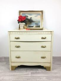 Vintage chest of drawers, shabby chic chest of drawers