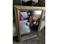 Beautiful New Gold Mirror. Collect today cheap
