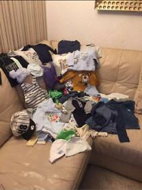 Huge bundle of baby boys clothes 0-18 months