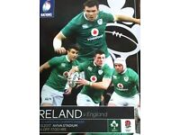 Ireland V England Six Nations Rugby Programme 18th March 2017