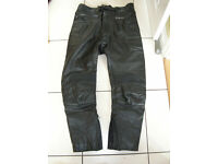 """Frank Thomas leather motorcycle trousers 38"""""""