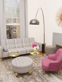 Designer Furnished Bright 2bd 2bath Huge Windows, Balconies Maida Vale near Barkerloo Line