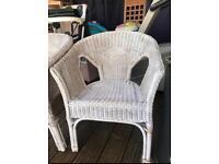 2 x wicker garden chairs