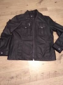 Men's Peter Werth Black Leather Jacket XL