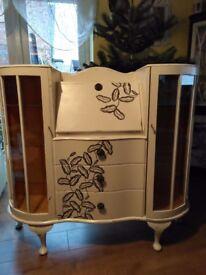 Wooden glass gabinet