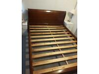 King size bed frame. Solid wood
