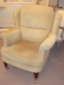 CHENILLE TWO SEATER SOFA & FIRESIDE CHAIR