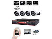 1080P 4 CH Wireless CCTV IP Camera Security System