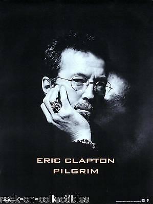 Eric Clapton 1998 Pilgrim Original Promo Poster Black & White