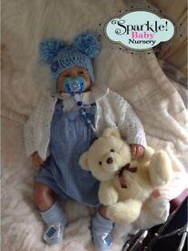 "Sparkle Baby Nursery Reborn Doll "" Arthur "" Realistic Newborn Lifelike"