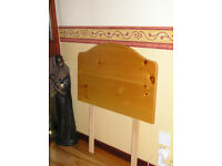 2'6 pine top quality expensive single bed HEADBOARD (RRP £70) selling very cheap for quick sale