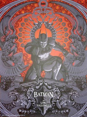 Halloween Batman Art (John Guydo Batman the Long Halloween Poster Print Mondo Artist)