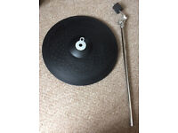 Yamaha PCY155 15 inch 3 zone ride cymbal. Can be choked. With boom arm.