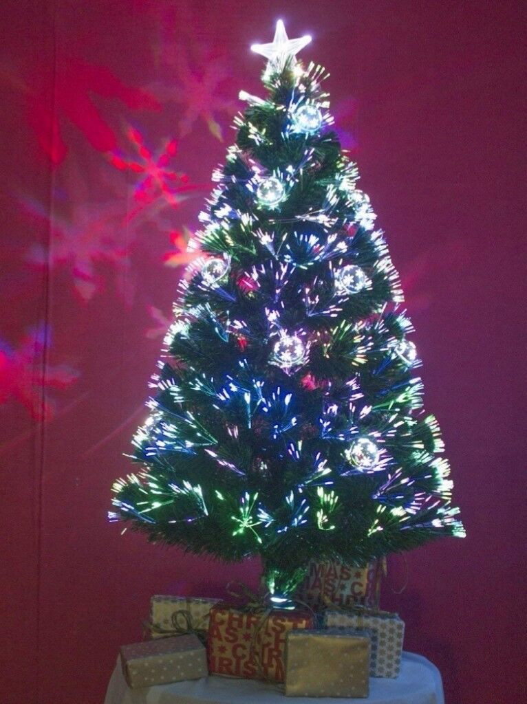 Fibre Optic Christmas Tree With Baubles.4ft Fibre Optic Christmas Tree In East Kilbride Glasgow Gumtree