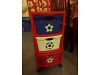Toy trolley , drawers from next
