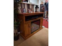ClassicFlame Premium Oak TV Cabinet with electric fire and infrared heating - New, Free Delivery