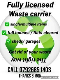 WASTE CLEARANCES/ SINGLE ITEMS/ FULL HOUSES, FREE QUOTES😊