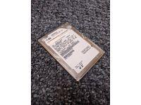 250GB sata laptop Hitachi HTS545025B9A300