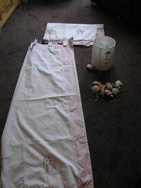 Mamas & Pappas Curtains, Tie Backs and Matching Lamp Shade