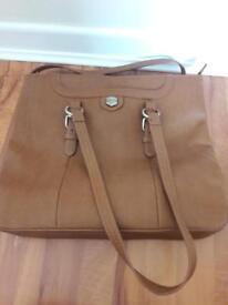 Large brown shoulder bag