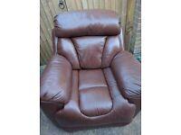 Brown single reclining chair