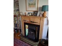 Victorian cast iron fire place, surround and bespoke wooden mantle
