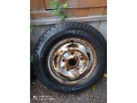 195 70 15 Continental Vaneo Van tyre Unused, still has pimples on. On old model Transit wheel.