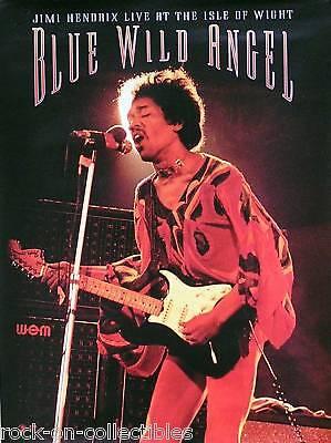 Jimi Hendrix 2002 Blue Wild Angel Original Promo Poster