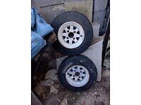 Mini / trailer wheels for sale x 4