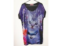 Butler and Wilson Sequinned Cat Tunic Small