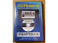 Roland DVD Owners Manual / Training Guide for Fantom-X ,series