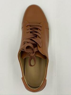 $230 Collegium Men's Brown Classic Pillar Leather Low Top Sneakers 9 tfe03