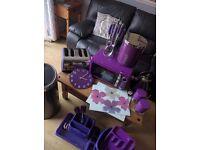 Purple kitchen full set up